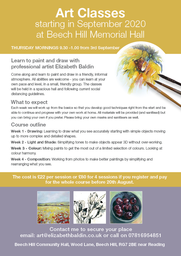 Beech Hill art class for beginners